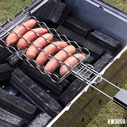 LYHONG BBQ Grillwurst GrillkorbHundegestell MetallgitterköRbe PicknickGrillstäNder...