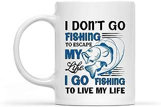 Keramische mok ik ga niet vissen om te ontsnappen mijn leven Ik ga vissen naar leven mijn leven kantoor cacao porselein ko...