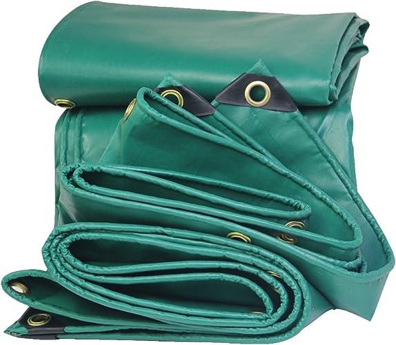 GLJ Amis Poncho Bache De l'huile Crêpe PVC Voiture Bache Toile Pluie Bache Imperméable à l'eau en Tissu Solaire Durable bache (Couleur   vert, Taille   5x5m)