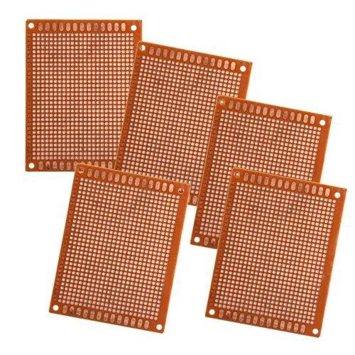 SODIAL(R) 5 BASETTE SCHEDE PCB PROTOTIPAZIONE MILLEFORI CM 9x7 [Elettronica]