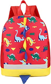 Wultia - Children Dinosaur Backpack School Backpack Baby Girl Boy Toys for Kindergarten Cartoon Animal Toddler Backpack Kids Gifts #G8 Red