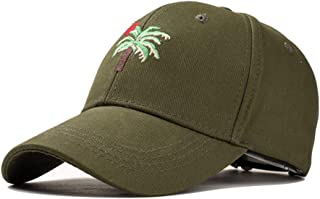 QIBAOHANG AU European And American Style Caps For Men And Women Couples Retro Korean Spring And Summer Travel Coconut Tree Baseball Hat Hipsters+-/-/