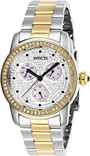 Invicta Women's Angel Quartz Watch with Stainless Steel Strap, Silver and Gold, 20 (Model: 28467)