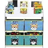 Homfa Estantería para Juguetes Libros Librería Infantil Organizador para...
