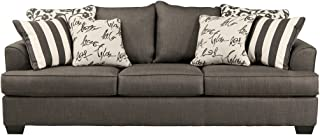 Ashley Furniture Signature Design - Levon Sofa - Classic Style - Charcoal Gray