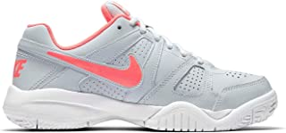 Official Brand Nike City Court 7 Tennis Shoes Juniors Girls Grey/Pink Court Trainers Sneakers