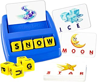 Matching Letter Game,Letter Spelling and Reading Memory Game for Preschool Kindergarten 3 and 4 Letter Picture Matching Game for Kids Educational Learning Toys for Boys Girls 3 Years and up
