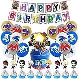 Beyblade Decoraciones Fiestas, 46pcs Los Kits De Decoraciones De Fiesta Beyblade Incluyen Pancarta De Cumpleaños Beyblade, Globos, Decoraciones De Pasteles Para Niños Beyblade Temáticas