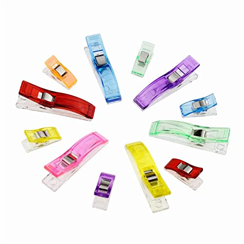 Candora ™ 100 piezas Wonder clips clip clips de colores vibrantes accesorio ideal como de costura