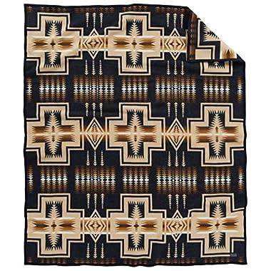 Pendleton Harding Jacquard Wool Blanket, Oxford, Twin