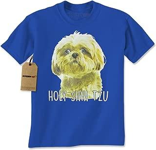 Expression Tees Holy Shih Tzu Funny Dog Lover Mens T-Shirt