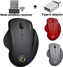 Wireless Mouse for Mac Wireless Mouse for MacBook Air MacBook Pro Laptop Desktop Computer Chromebook (Black)