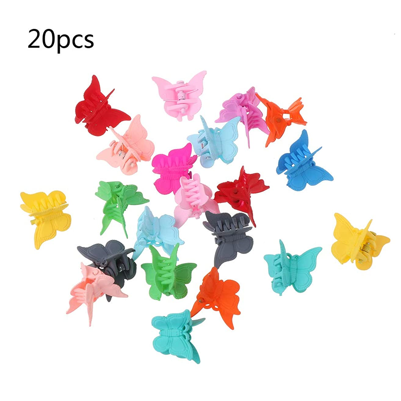 Hair Accessories Mini Hair Claws For Baby Multi Colors Plastic Hair Clips Butterfly Design Hair Clamps For Children 20Pieces