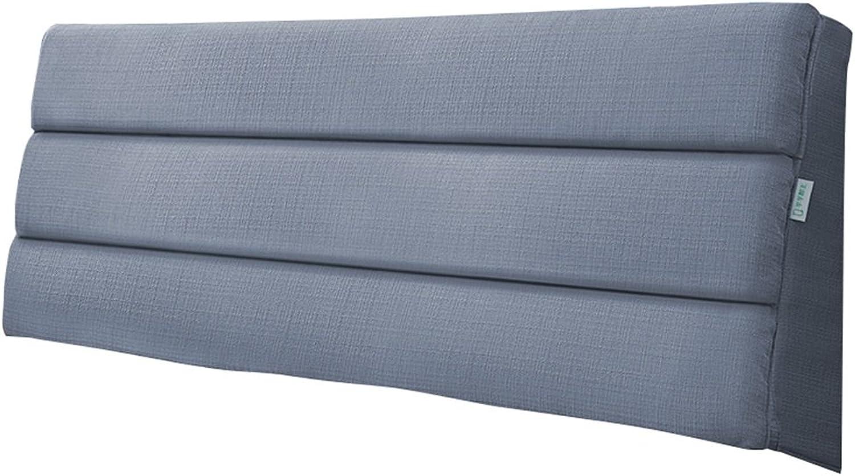 Tête de lit triangle oreiller arrière coussin grand dossier pour lit chevet canapé rembourré softcase oreiller unique lit double oreiller coussin lombaire (Bleu royal) (taille   200×50×5cm)