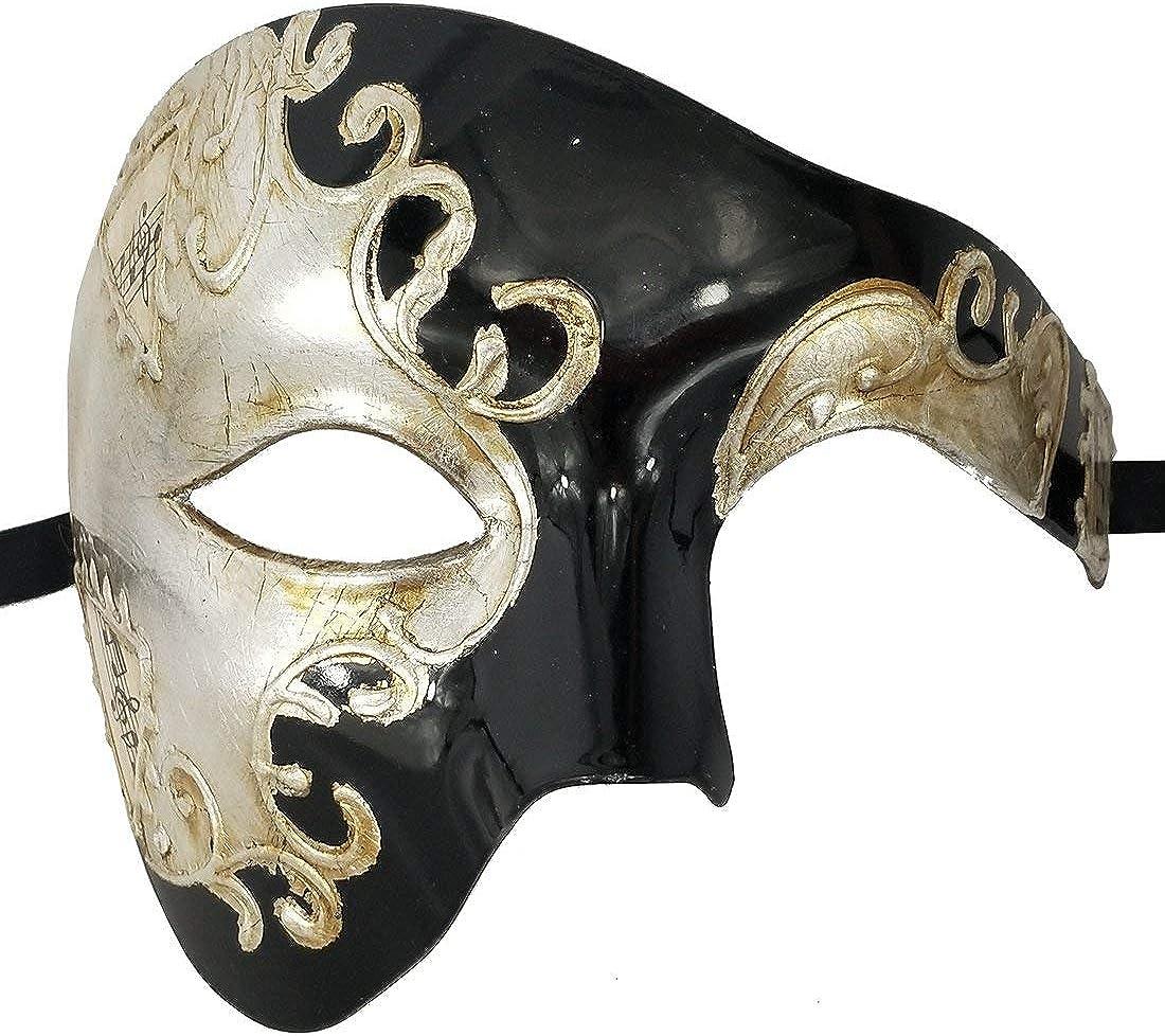 Deluxe Máscara Media Cara el fantasma de la noche de ópera Adulto máscaras Masquerade Nuevo
