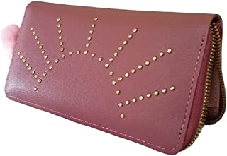 Party casual formal peach clutch for women