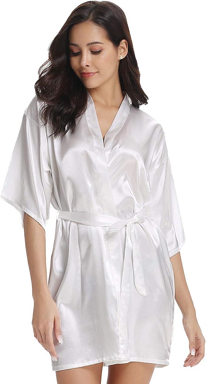 3865 opinioni per Vlazom Kimono in Raso da Donna, Accappatoi e Vestaglie Satin Sexy Pigiama Kimono