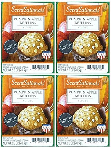 ScentSationals Pumpkin Apple Muffins Scented Wax Cubes - 4-Pack