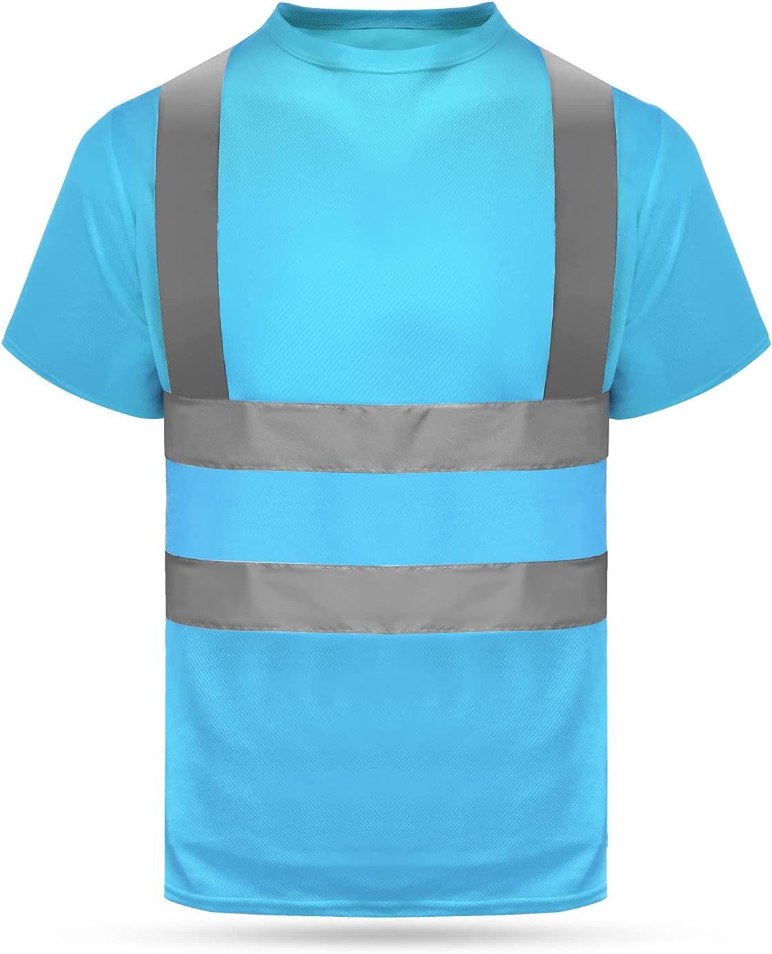 HYCOPROT Max 84% OFF High Vis Reflective T Shirt Sleeve Mesh Short Qu Max 50% OFF Safety