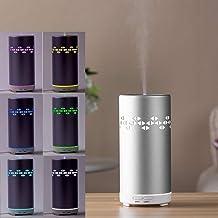 Household Appliances FEA J87 Portable Geometric Pattern Aluminum Colourful Breathing LED Light 100ML Ultrasonic Mist Air H...