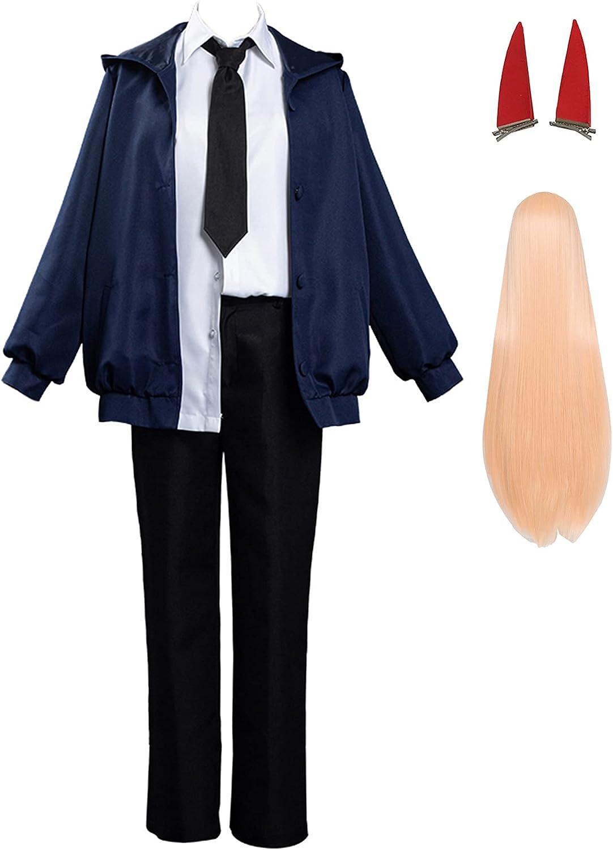 Qingge Chainsaw Man De Cosplay De Motosierra Uniforme Denji Traje De Cosplay Camisa De Vestir Capa Chaqueta Falda Traje Conjunto De Vestir, Disfraz De Halloween para Hombres Y Mujeres.