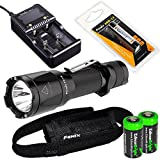 EdisonBright Fenix TK16 1000 Lumens Cree LED Tactical Flashlight with Genuine Fenix ARB-L2 18650 2600mAh Li-ion Rechargeable Battery, Smart Battery Charger and 2X CR123A Lithium Batteries Bundle