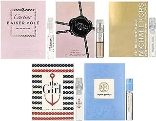 Women's Designer Fragrance sampler set - 5 High End Perfume Vials