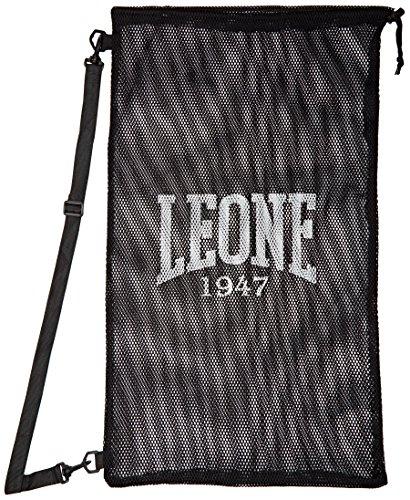 LEONE 1947 Mesh Bag - Bolsa de deporte, color negro, talla única