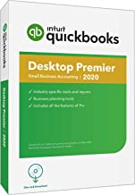QuickBooks Desktop  Premier 2020  Accounting Software for Small Business with Amazon Exclusive Shortcut Guide [PC Disc]