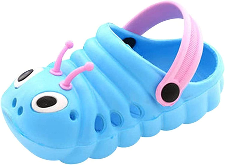 TMEOG Baby Sandals, Boys Girls Sandals Clogs Cute Caterpillar Slip On Lightweight Kid's Beach Slipper