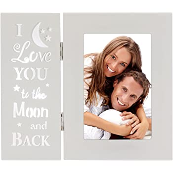 Malden International Designs Baby Memories Love You To Wood With Gold Foil Accents Picture Frame 4x6 White Malden Industrial Designs 4699-46