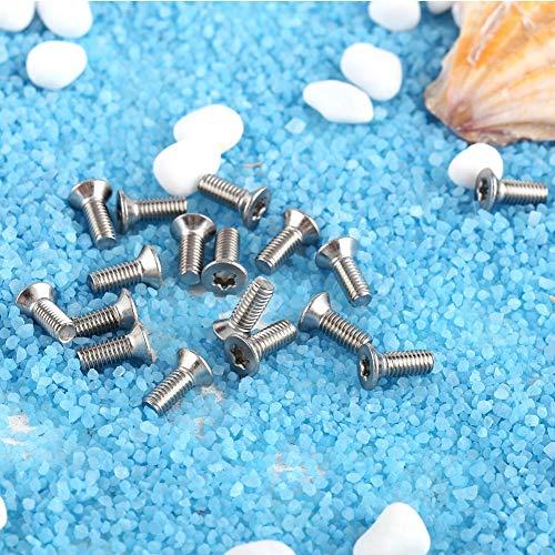 Material de la estrella de cabeza plana, material de acero de rosca grueso de acero inoxidable hecho de metal 50pcs (plata)