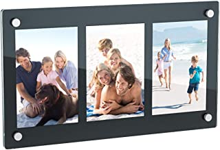 NIUBEE 3 Opening 4×6 Collage Picture Frame, Acrylic Wall Hanging and Desktop Photo..
