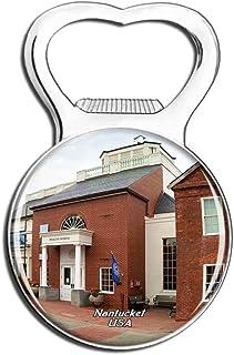 Weekino USA America Nantucket Whaling Museum Fridge Magnet Bottle Opener Beer City Travel Souvenir Collection Strong Refri...
