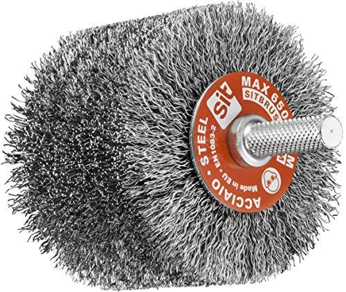 Sit Tecnospazzole 894 Spazzola per Trapano a Filo Ondulato in Acciaio ondulato-G80D XL-Ø: 80mm