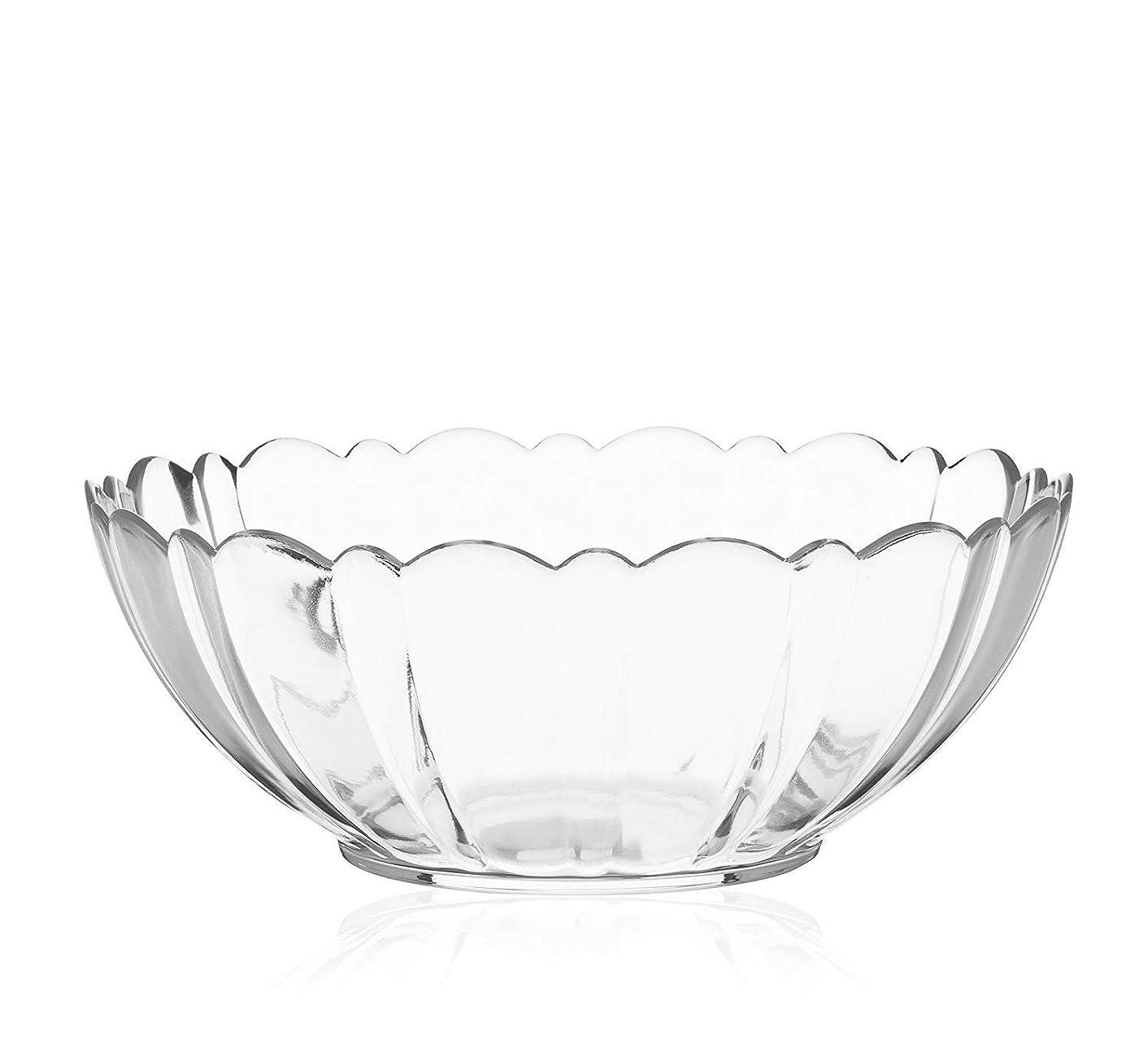 ルビー枠確率テーブルウェアイースト そうめん鉢 23cm アルカド ガラス製 大鉢 鉢 ガラス食器 (23cm)