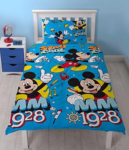 Disney Juego de edredón Mickey Mouse, Estampado, Multicolor