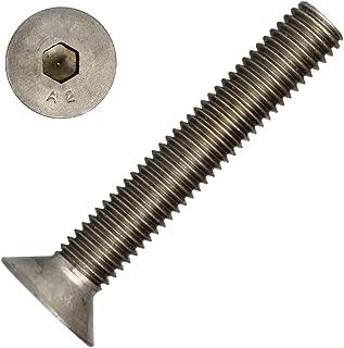 10 unidades ISK DIN 7991//ISO 10642 de acero inoxidable A2 V2A Tornillos avellanados con hex/ágono interior