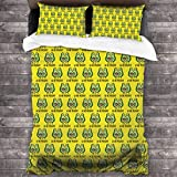 GTGTH Duvet Cover Set We Are Pregnant Avocado 3 Piece Bedding Set Comforter Set with 2 Pillow Shams Zipper-Extra Long Perfect for Any Bed Room Or Guest Room