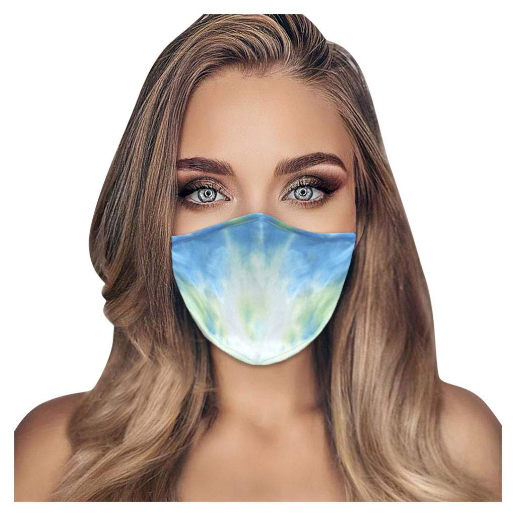 FatCat Wall Graphics Fashion Tie-dye Dust Mask, Washable Reusable Sports Mask for Teens Adults Indoor and Outdoor…