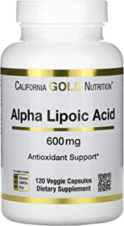 California Gold Nutrition Alpha Lipoic Acid, 600 mg, 120 Veggie Capsules