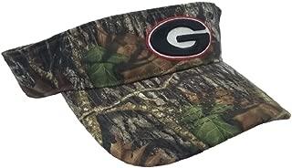 Collegiate Headwear National Cap Camo Visor University of Georgia Bulldogs