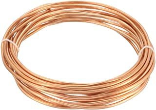 uxcell Refrigeration Tubing, 7/64 inches OD x 1/16 inches ID x 16 Ft Soft Coil Copper Tubing