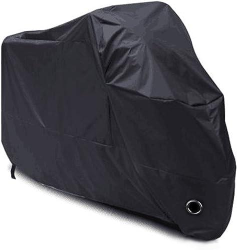 LIHAO Housse de Protection pour Moto imperméable, résistant au Froid et intempéries 190T Noir Protège de la poussière