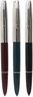 Sipliv 3PCS Classic Fountain Pen Hero 616, in 3 Colors, Silver Trim