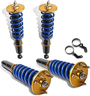 MOSTPLUS Full Coilovers Struts for 2004-2008 Acura TSX/2003-2007 Honda Accord LX EX DX SE Adjustable Height Shock Absorber Assembly (Set of 4)