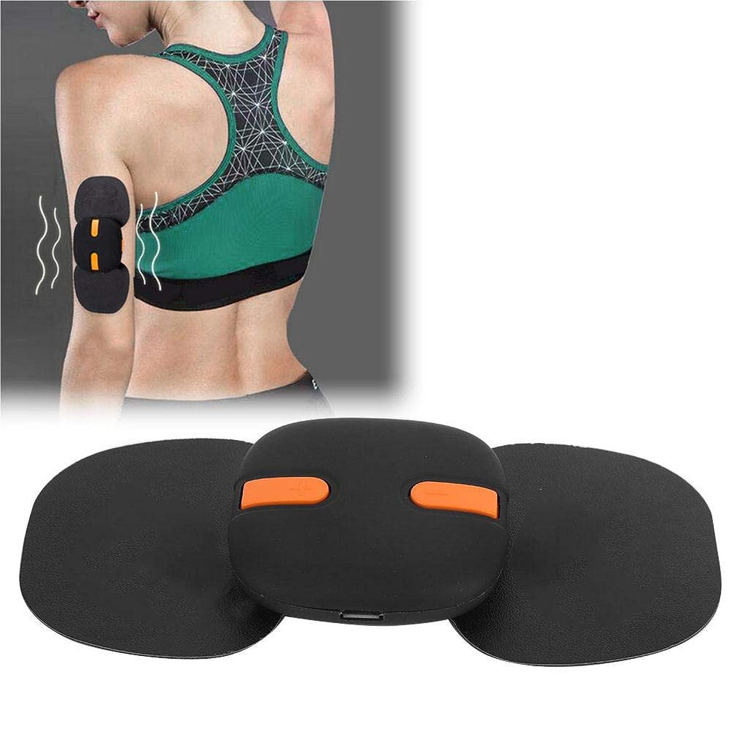 気づくなるオレンジ不正確筋肉電気刺激装置、腹部用電子腹部刺激装置/腕/脚/男女用ウエストEMSトレーナー