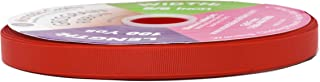Mandala Crafts Grosgrain Ribbon from Polyester Fabric for Gift Wrap, Hair Ties, Bows, Luggage, Scrapbooks, Decoration, Sewing (5/8 Inch 16mm, Red)