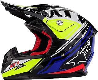 Casco de Moto de Cara Completa para Hombres, Casco de Motocicleta Kating Todoterreno para Adolescentes, Cascos de Motocross para Adultos, 50-62 cm