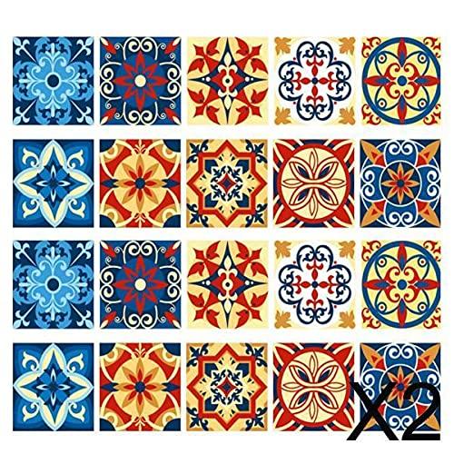 P Prettyia 2x20x Adhesivo Cuadrado Azulejo de Pared Piso Papel de Pared Calcomanía Decoración para El Hogar 3#